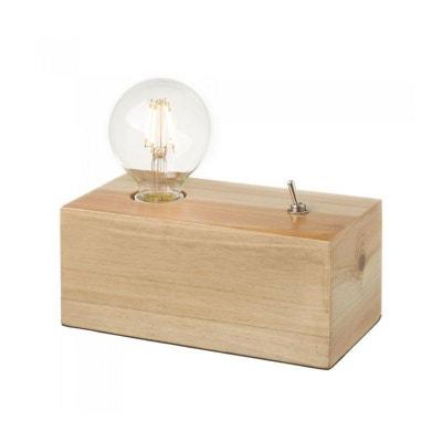 Lampe à Poser Design en Bois WADIGA