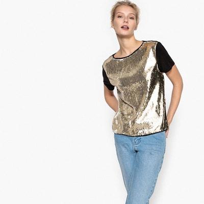 Tee-shirt à sequins La Redoute Collections