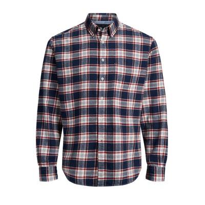 Camisa recta a cuadros, de manga larga Camisa recta a cuadros, de manga larga JACK & JONES