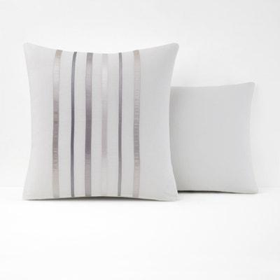 Cinta White and Grey Single Pillowcase Cinta White and Grey Single Pillowcase La Redoute Interieurs