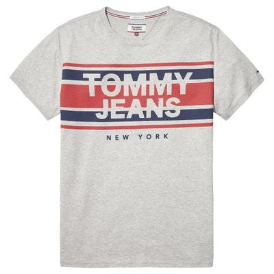 T-shirt met ronde hals en korte mouwen, print vooraan T-shirt met ronde hals en korte mouwen, print vooraan TOMMY JEANS