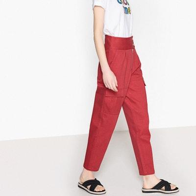 Pantalon denim taille haute La Redoute Collections
