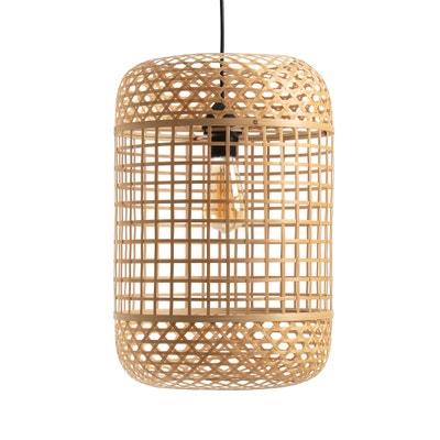 Pantalla para lámpara de techo de bambú, altura 46 cm, CORDO Pantalla para lámpara de techo de bambú, altura 46 cm, CORDO La Redoute Interieurs