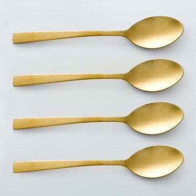 Confezione da 4 cucchiai finitura dorata, AUBERIE Confezione da 4 cucchiai finitura dorata, AUBERIE La Redoute Interieurs