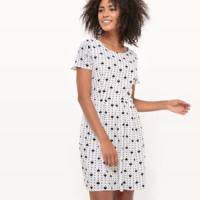 Heart Print Short-Sleeved Dress Heart Print Short-Sleeved Dress MOLLY BRACKEN