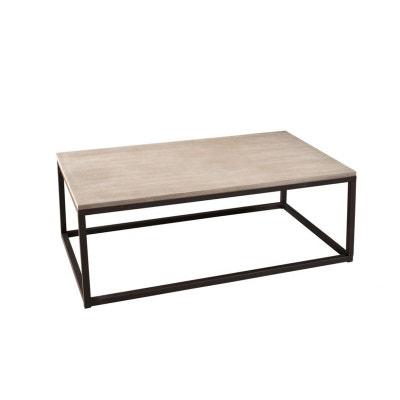 Table basse Industrielle rectangulaire Métal et Bois 115cm LALI PIER IMPORT