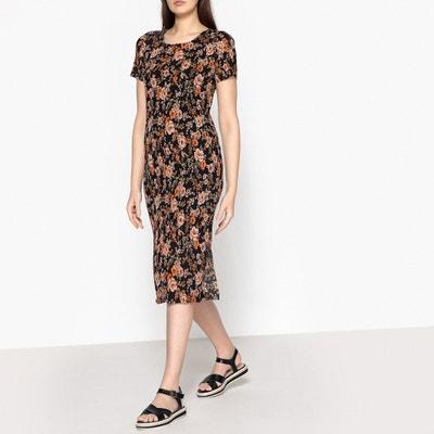 Burmis Short-Sleeved Floral Print Dress SAMSOE AND SAMSOE