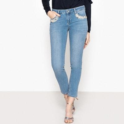 Skinny-Jeans mit Perlendetails, normale Bundhöhe. LIU JO