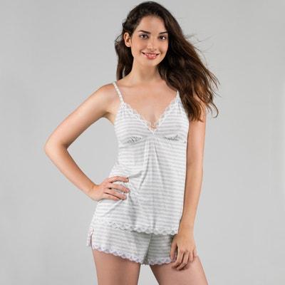 Pyjashort modal, caraco et dentelle, Romy DORINA