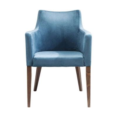 Chaise avec accoudoirs Mode velours bleu pétrole Kare Design Chaise avec accoudoirs Mode velours bleu pétrole Kare Design KARE DESIGN