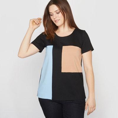 T-shirt color block in milanotricot CASTALUNA