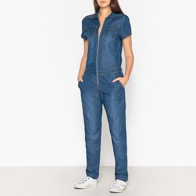 Jumpsuit in jeans met korte mouwen Jumpsuit in jeans met korte mouwen IKKS