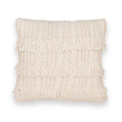 Housse de coussin en tricot à franges, LOPIK Housse de coussin en tricot à franges, LOPIK La Redoute Interieurs