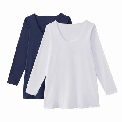 T-shirt col rond manches longues (lot de 2) CASTALUNA