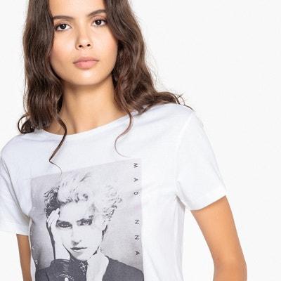 T-shirt de gola redonda, mangas curtas, estampado à frente T-shirt de gola redonda, mangas curtas, estampado à frente La Redoute Collections