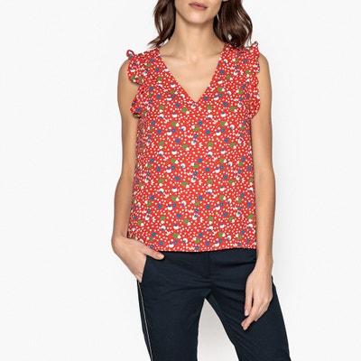 Bedrukte blouse met V-hals JOSE LA BRAND BOUTIQUE COLLECTION
