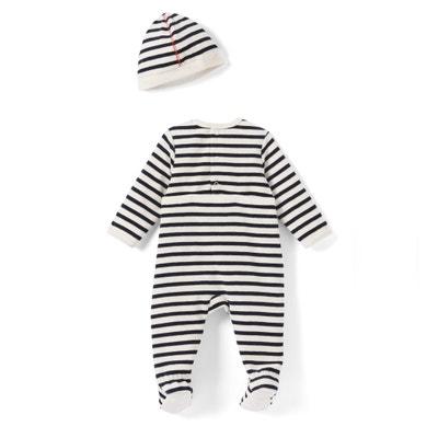 Gestreepte pyjamamet muts, 0 - 3 jr La Redoute Collections