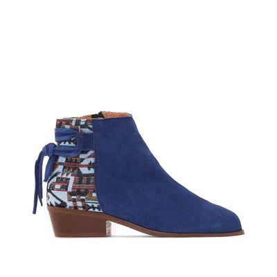 Boots cuir aztèque Boots cuir aztèque LA REDOUTE COLLECTIONS. Soldes d4ef31bd3c55