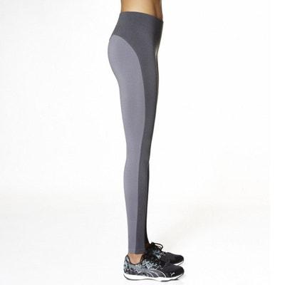 Legging long bicolore pour le Sport Victoria 200DEN BAS BLEU