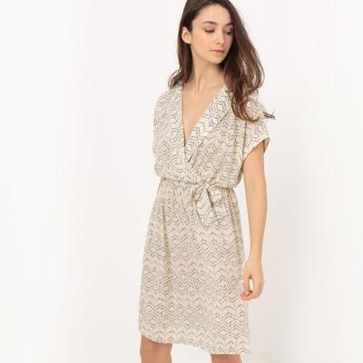 Printed Wrapover Style Dress VERO MODA