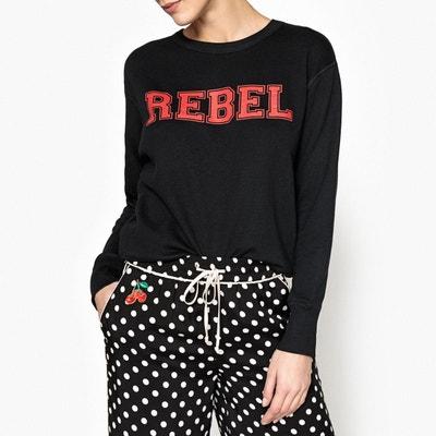 """Sweat à message """"rebel"""" POUILLES Sweat à message """"rebel"""" POUILLES ESSENTIEL ANTWERP"""