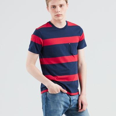 Camiseta a rayas con cuello redondo SUNSET Camiseta a rayas con cuello redondo SUNSET LEVI'S