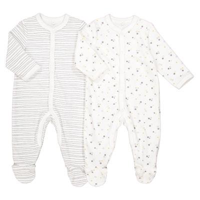 Pijama a rayas con estrellas, lote de 2, prematuro - 3 años Pijama a rayas con estrellas, lote de 2, prematuro - 3 años La Redoute Collections