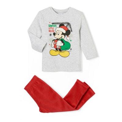 Pijama de Natal com 2 peças, em veludo, 2 - 6 anos Pijama de Natal com 2 peças, em veludo, 2 - 6 anos MICKEY MOUSE