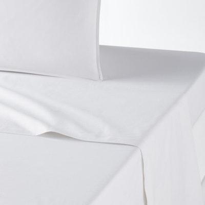 Sábana de percal de algodón orgánico Sábana de percal de algodón orgánico La Redoute Interieurs