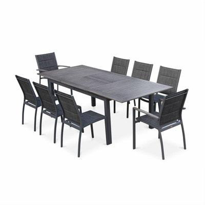 Table de jardin alu et verre trempe | La Redoute