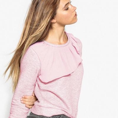 Two-Material Ruffle Sweatshirt Two-Material Ruffle Sweatshirt MADEMOISELLE R