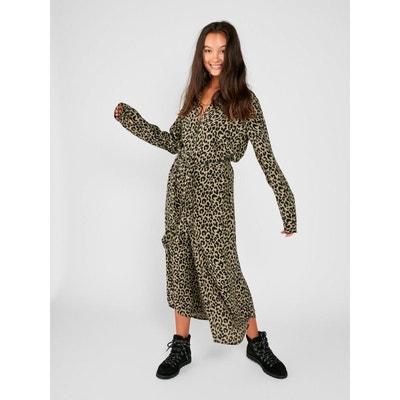 Robe Longue à imprimé léopard Robe Longue à imprimé léopard PIECES