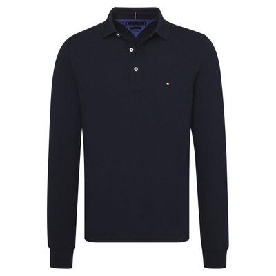 Polo manches longues, pur coton TOMMY HILFIGER 697d403bd894