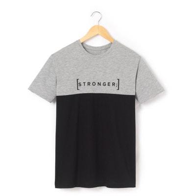 T-shirt con scollo rotondo fantasia, maniche corte T-shirt con scollo rotondo fantasia, maniche corte La Redoute Collections