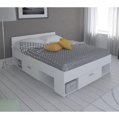 lit en bois 140x190200 blanc perle lt115 lit en bois 140x190200 blanc - Lit 140