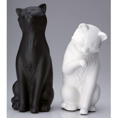Serre Livres 2 Chats Noir/Blanc Serre Livres 2 Chats Noir/Blanc 3COM