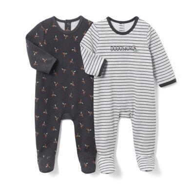 Conf. da 2 pigiama fantasia in tessuto felpato da 0 mesi a 3 anni Conf. da 2 pigiama fantasia in tessuto felpato da 0 mesi a 3 anni La Redoute Collections
