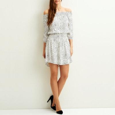 Schulterfreies Kleid Vimosa mit Print Schulterfreies Kleid Vimosa mit Print VILA