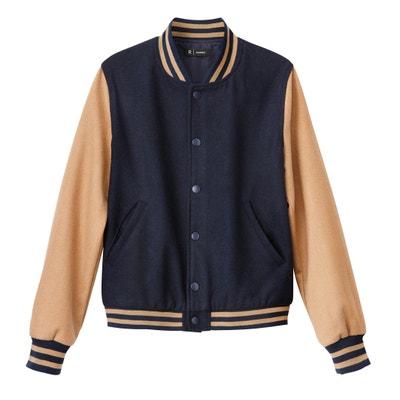 Wool Blend Baseball Bomber Jacket La Redoute Collections