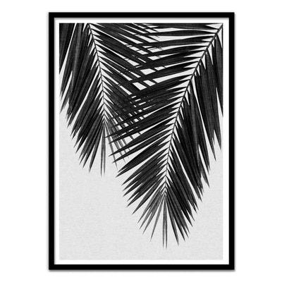 Affiche art 50x70 cm enfants - Illustration - Palm Leaf Part 3 Black White WALL EDITIONS