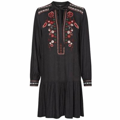 Peplum Dress with Embroidery & Pussy Bow VERO MODA