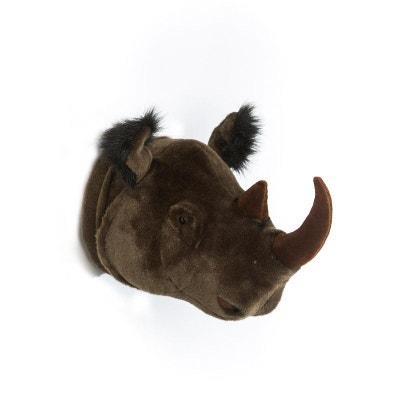 Déco murale enfant Peluche Rhinocéros Michaël Bibib BIBIB ET CO