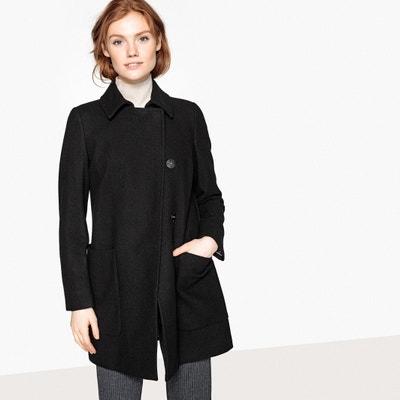 Manteau mi-long zippé en laine mélangée Manteau mi-long zippé en laine mélangée BENETTON