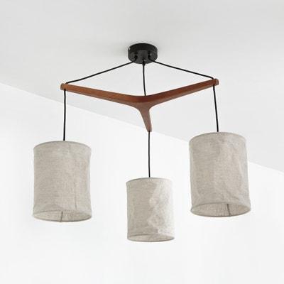 Hanglamp in hout en linnen, Watford La Redoute Interieurs