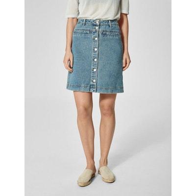 Jupe en jean Taille haute - SELECTED FEMME 1412e1187fe8