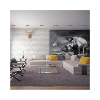 Papier Peint Rhinocéros Perdu Dans La Rêverie - Dimension - 350x270 RECOLLECTION