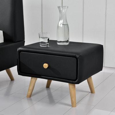 table de nuit noir la redoute. Black Bedroom Furniture Sets. Home Design Ideas