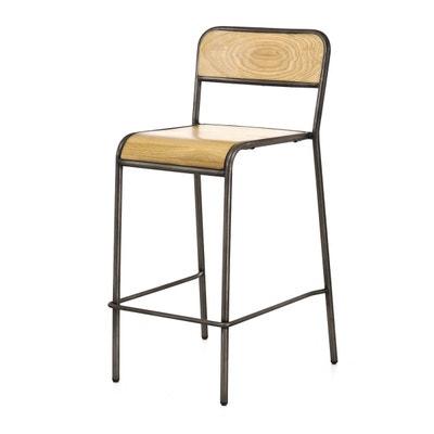lot de 2 chaises plan de travail chne mtal skhol lot de 2 chaises plan - Meuble De Cuisine Bas Avec Plan De Travail
