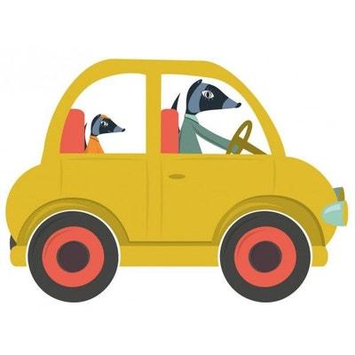 Sticker enfant: voiture jaune Sticker enfant: voiture jaune DECOLOOPIO