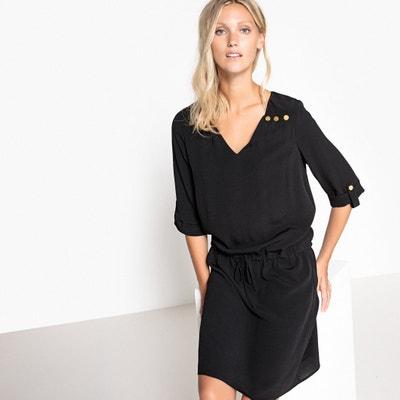 Shirt Style Dress with Elasticated Waist SUD EXPRESS